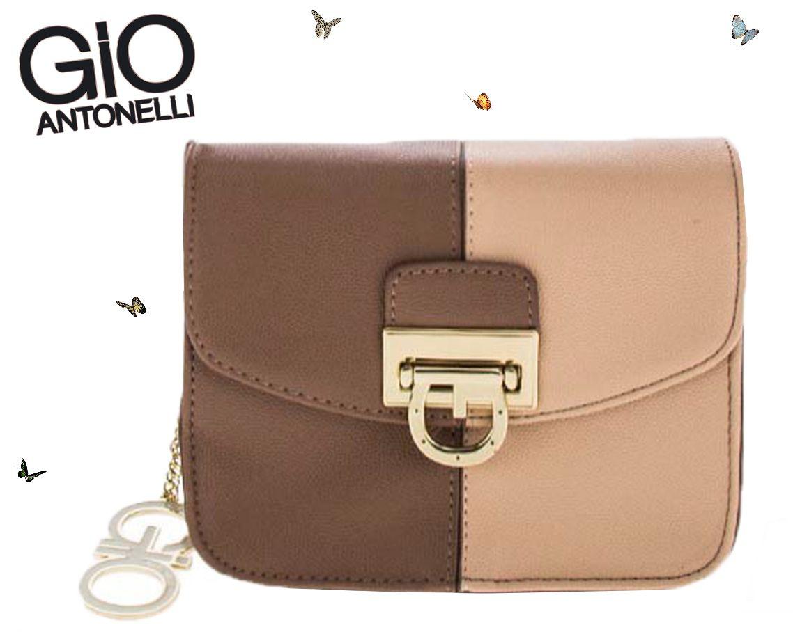 Bolsa Giovanna Antonelli Mini Bag Transversal Marrom GIO7801