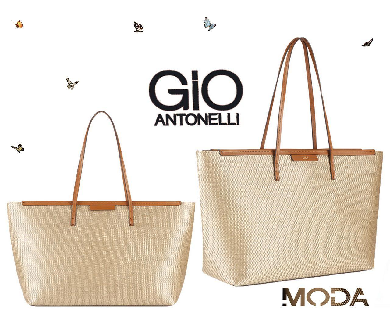 Bolsa Tote Bag Dourado Caramelo Gio Antonelli GIO1903