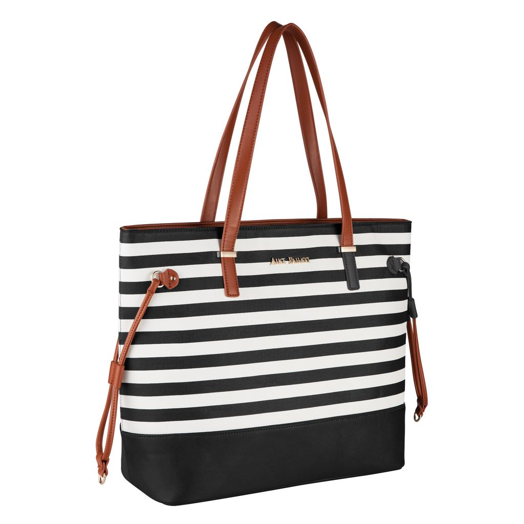 9670c5c9e Bolsa Feminina Preta Tote Bag Alice Palucci Listrada Grande Alça Ombro Alta  Qualidade AL1904