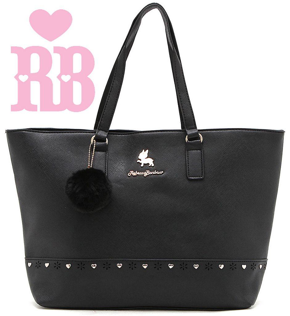 Bolsa Feminina Rebecca Bonbon Original Lado Grande Preta Tote Bag Semax