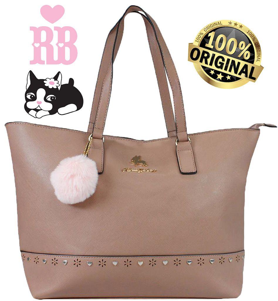 Bolsa Feminina Rebecca Bonbon Original Lado Grande Rose Tote Bag Semax