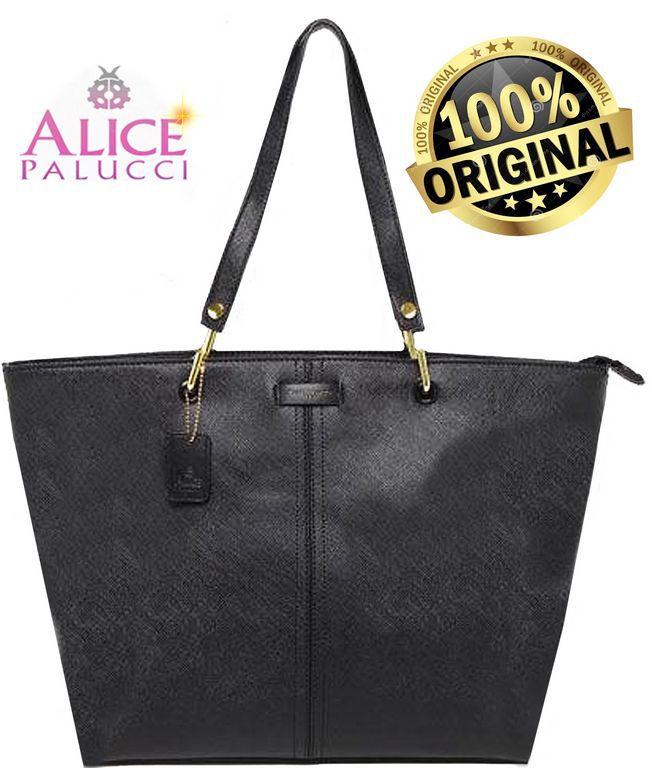 Bolsa Tote Bag Grande Work Now Alice Palucci Preto AL8805PT