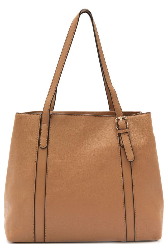 Bolsa Feminina Tote Bag Bege Resistente Alça Mão Original Pagani Semax PG3811
