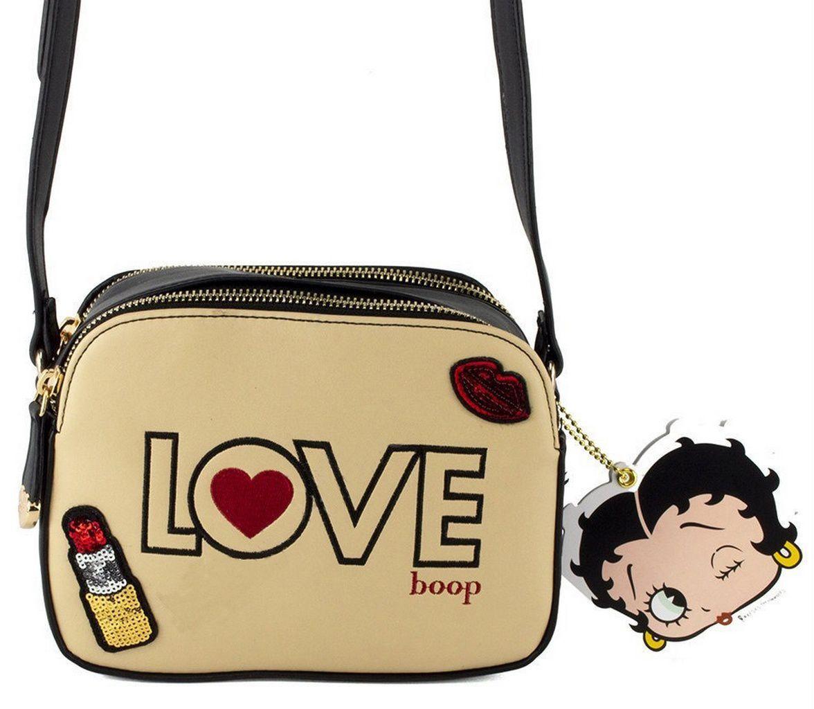 Bolsa Feminina Transversal Pequena Betty Boop Love Creme