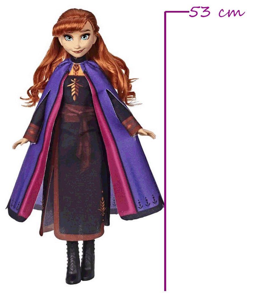 Boneca Articulada Anna Frozen 2 Tamanho Médio Roupas Removíveis Macia Menina Divertida Lançamento Baby Brink Disney Maior 3 Anos Nova