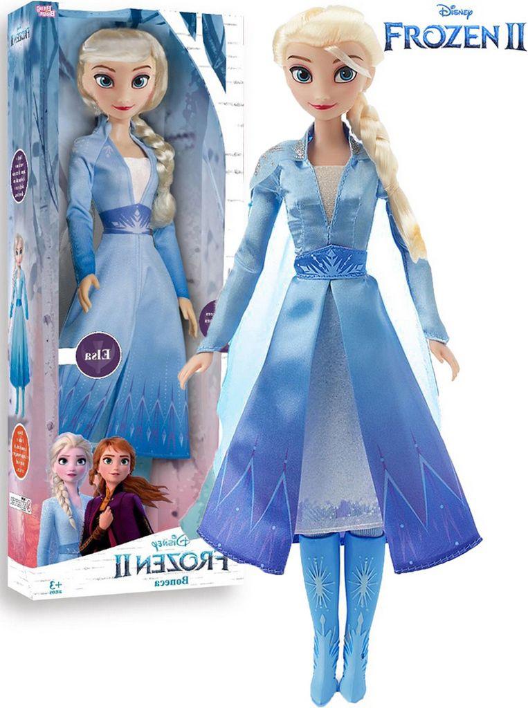 Boneca Articulada Elsa Frozen 2 Tamanho Grande Gigante 80 Cm Roupas Removíveis Macia Menina Divertida Lançamento Baby Brink Disney Maior 3 Anos Nova