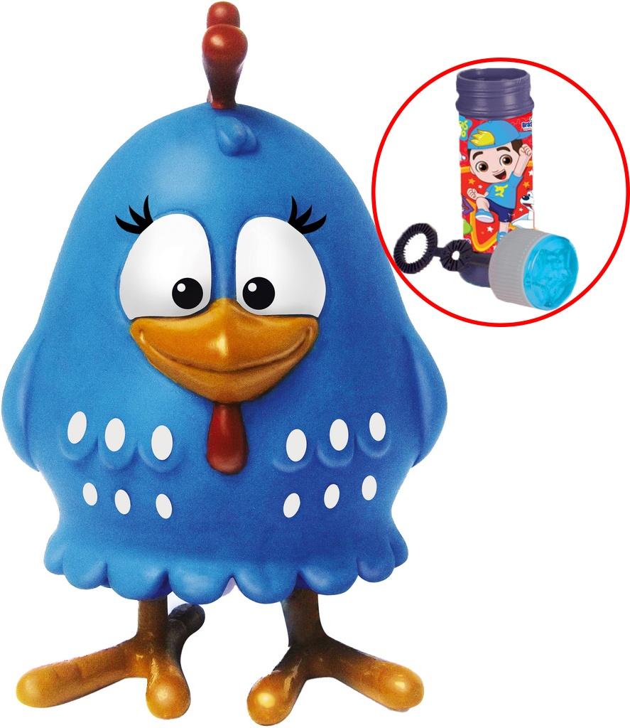 Boneca Galinha Pintadinha Boneco Brinquedo Com Bolhas De Sabão Infantil Bebê 18 Meses Menina Menino Macio 14 Cm Elka