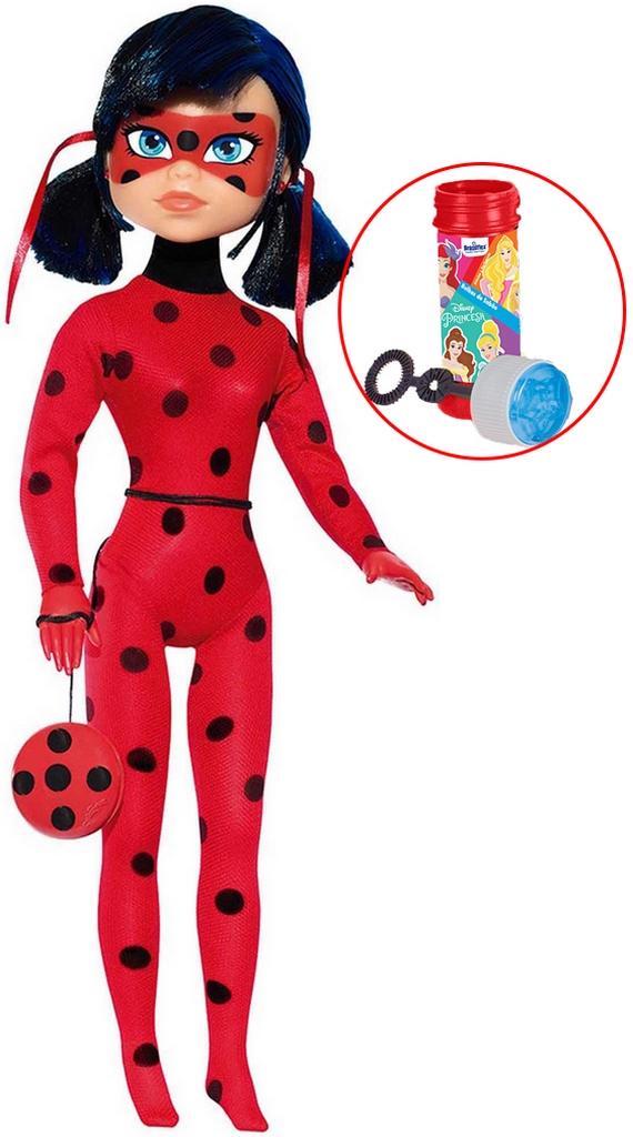 Boneca Ladybug Miraculous Articulada 51 Cm Com Ioiô Brinquedo Infantil Menina Plástico Grande Bolhas De Sabão Baby Brink