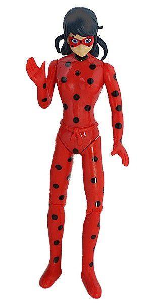 Boneca Miraculous Ladybug 15Cm Articulada Luz Movimento