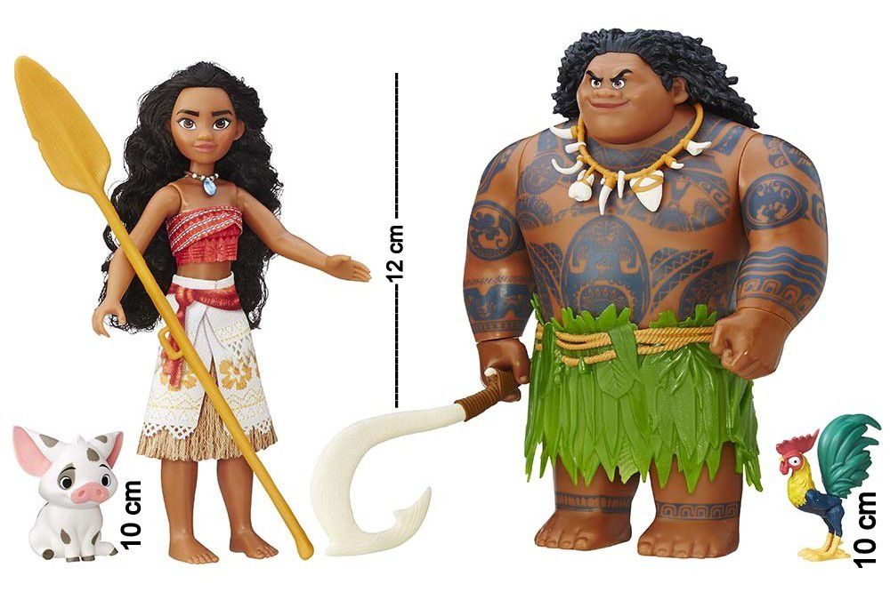 Boneca Moana Kit Com 5 Personagens Mar de Aventuras