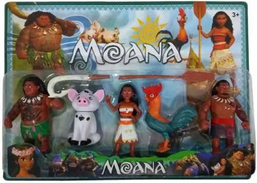 Boneca Moana Kit Com 5 Personagens Mar de Aventuras