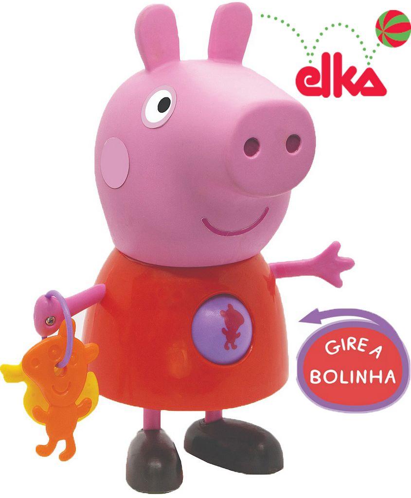 Boneca Peppa Com Atividades Rosa Menina Didáticas Infantil Acima +24 Meses Educativa Resistente Original Elka