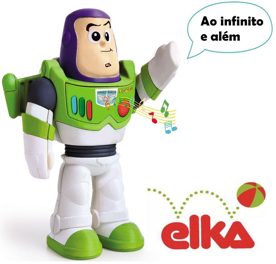 Boneco Articulado Meu Amigo Buzz Lightyer Toy Story Original Educativo Eletrônico 20 cm Infantil Menino Frases Disney Elka