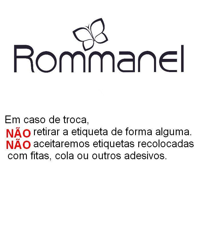 Brinco Rommanel Argola Oval Folheado a Ouro 2,5 Cm 520963