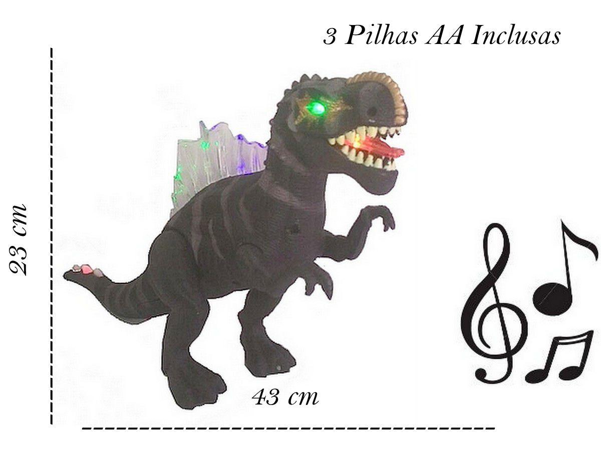 Brinquedo Dinossauro Tiranossauro Rex Articulado com Luz