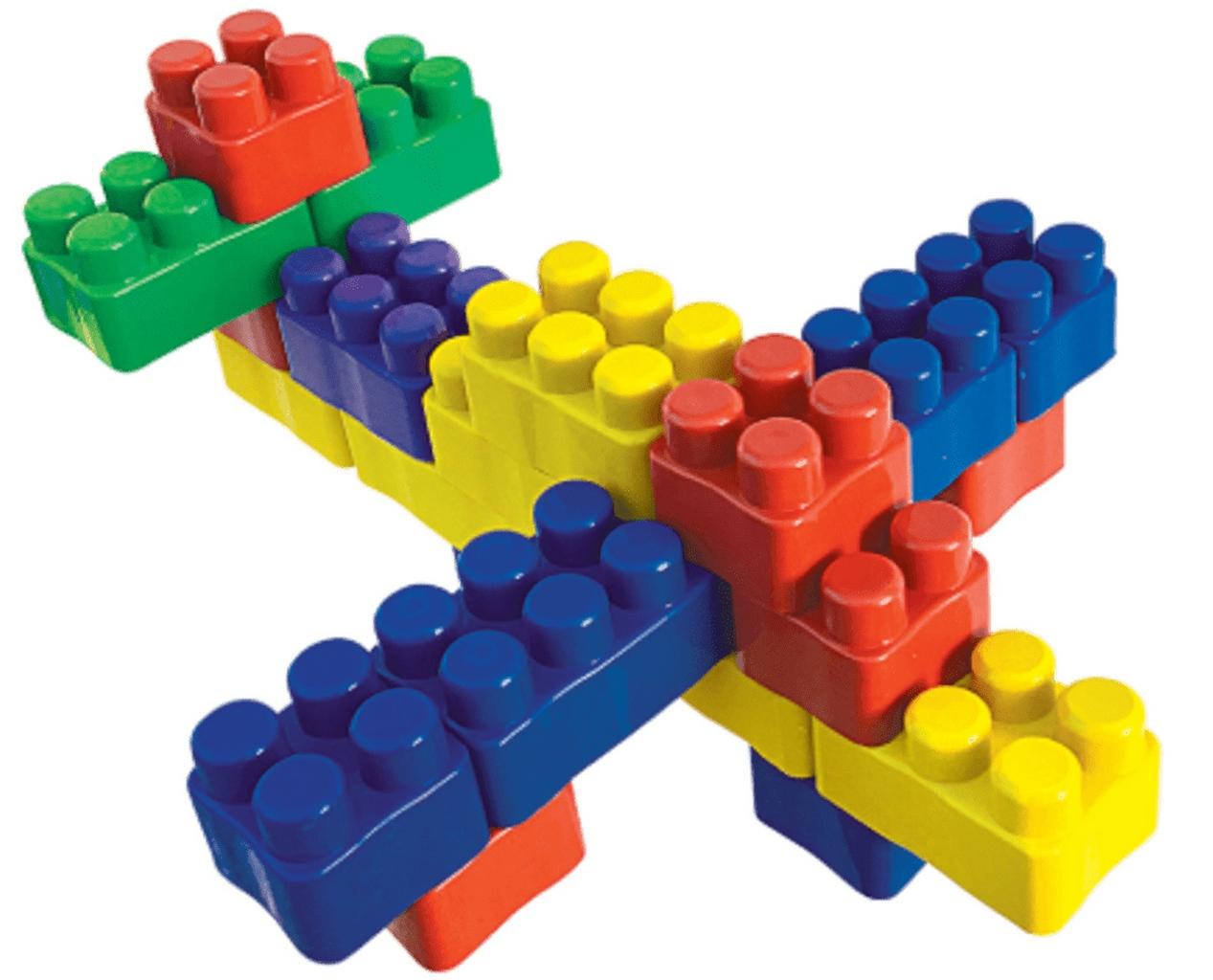 Brinquedo Infantil Blocos De Montar 1250 Peças  Bolas De Sabão Menino Menina Bloc Slim Colorido Coordenação Motora Luctoys Novo