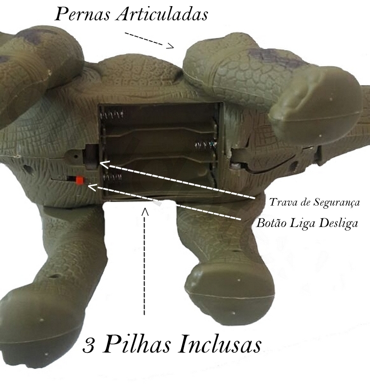Brinquedo Infantil Dinossauro Eletrônico  Articulado - Luzes - Som - Bota Ovos
