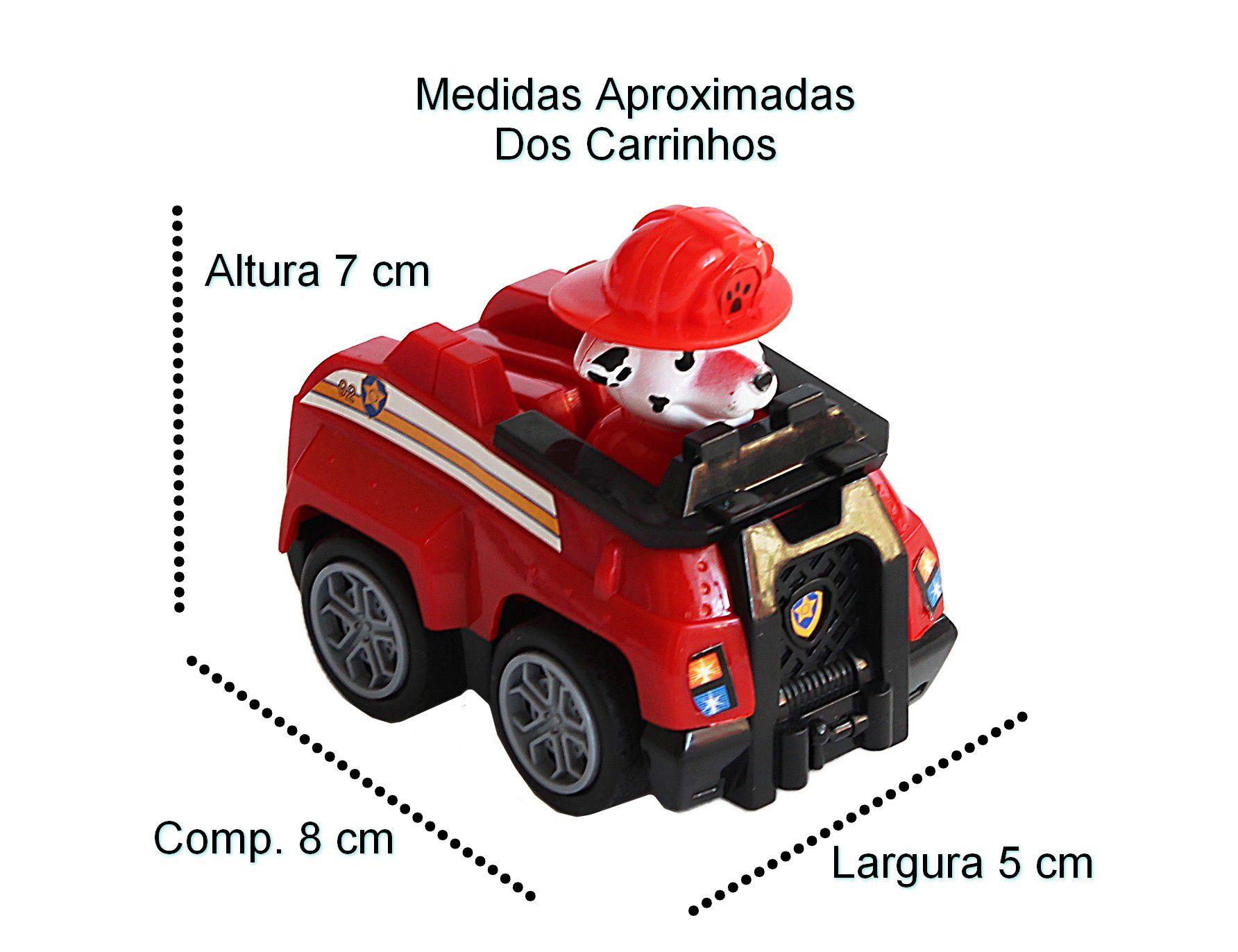 Brinquedo Kit 6 Carrinhos Patrulha Canina Infantil Tração