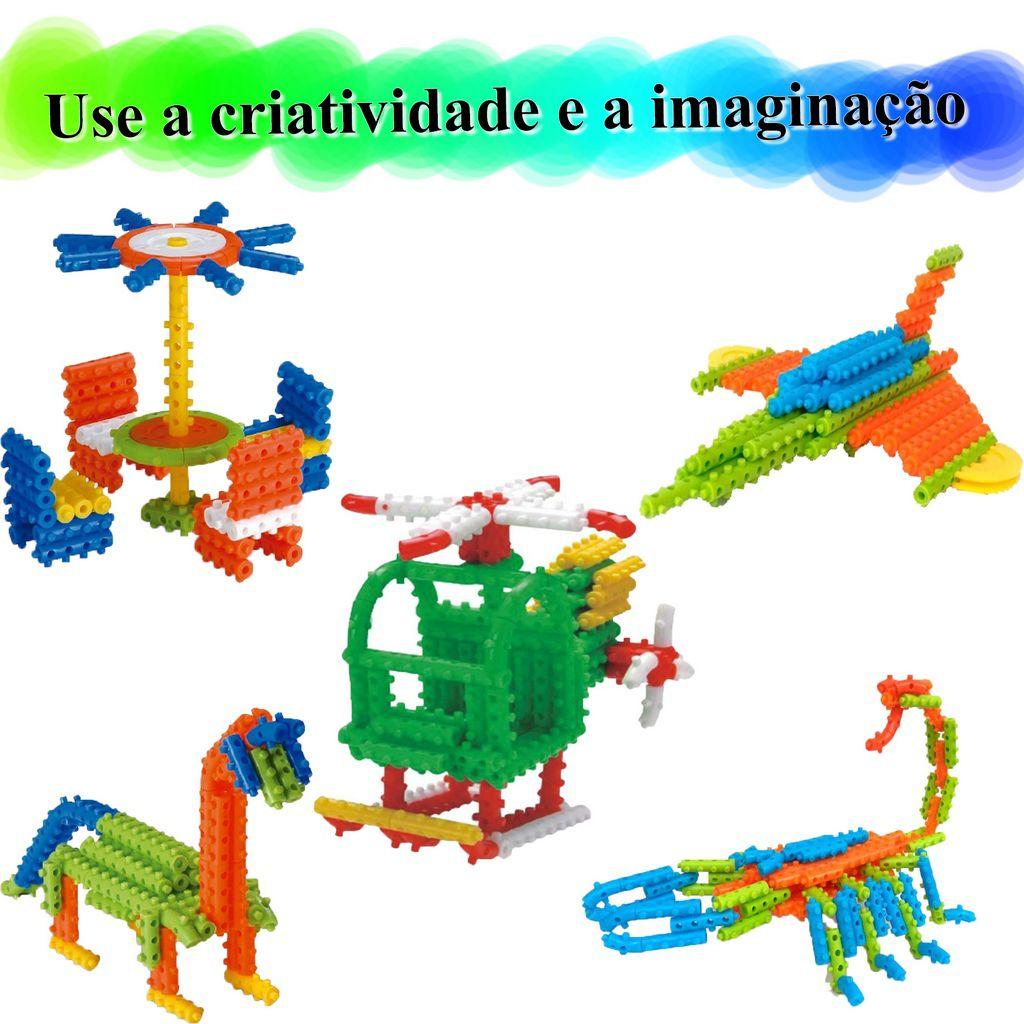Brinquedo Pino Mágico Para Montar Colorido 170 Peças Estimula Criatividade Coordenação Motora Divertido Menino Menina Elka Novo