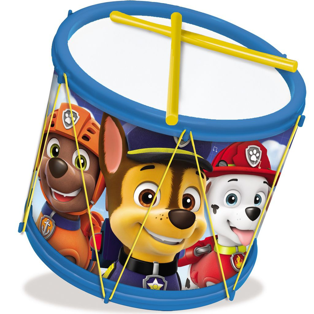 Bumbo Patrulha Canina Tambor Infantil Menino Instrumento Baquetas Divertido Brinquedo Estimula Coordenação Motora Bolhas De Sabão Elka