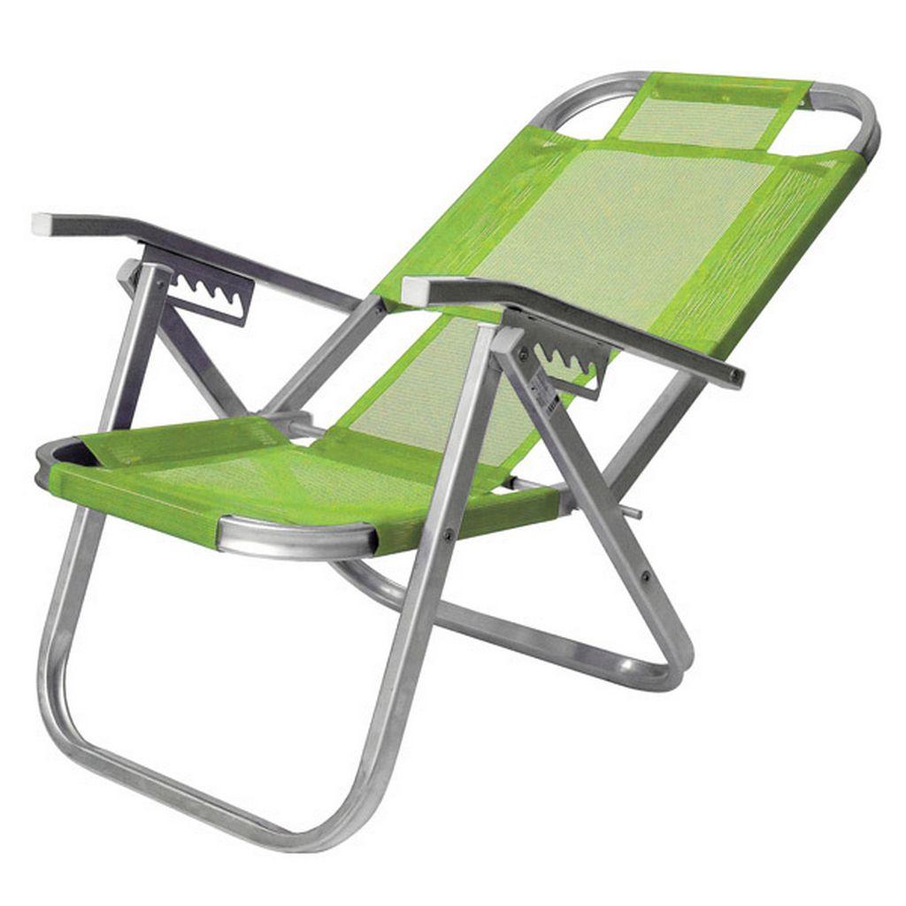 Cadeira De Praia Reclinável 5 Posições Ipanema Verde Primavera Botafogo