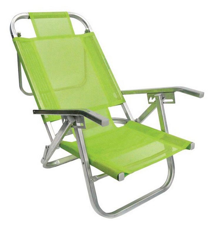 Cadeira De Praia Verde Primavera Copacabana Reclinável 5 Posições Botafogo
