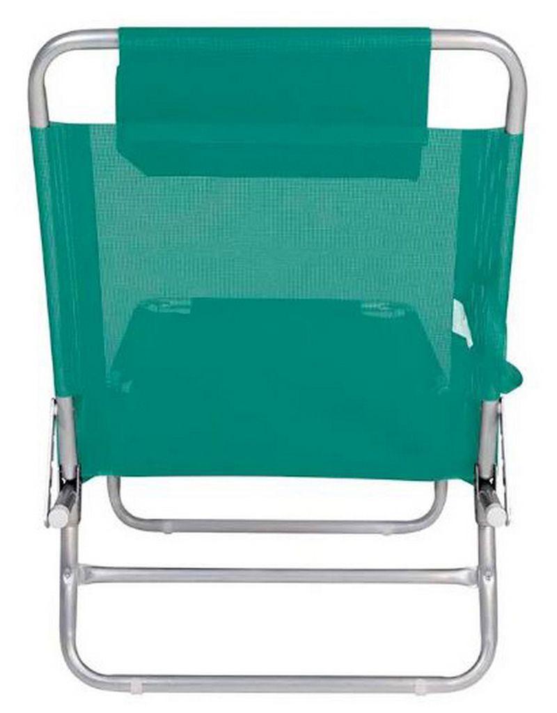 Cadeira Espreguiçadeira Turquesa Alumínio Mor Suporta Até 100 Kg