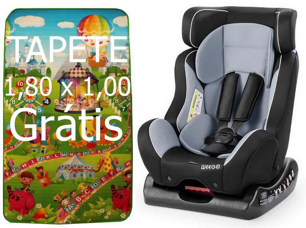 Cadeirinha Para Carro Weego 0-25 Kg Cinza Com Tapete De Atividades Infantil Bebê Em EPE Emborrachado