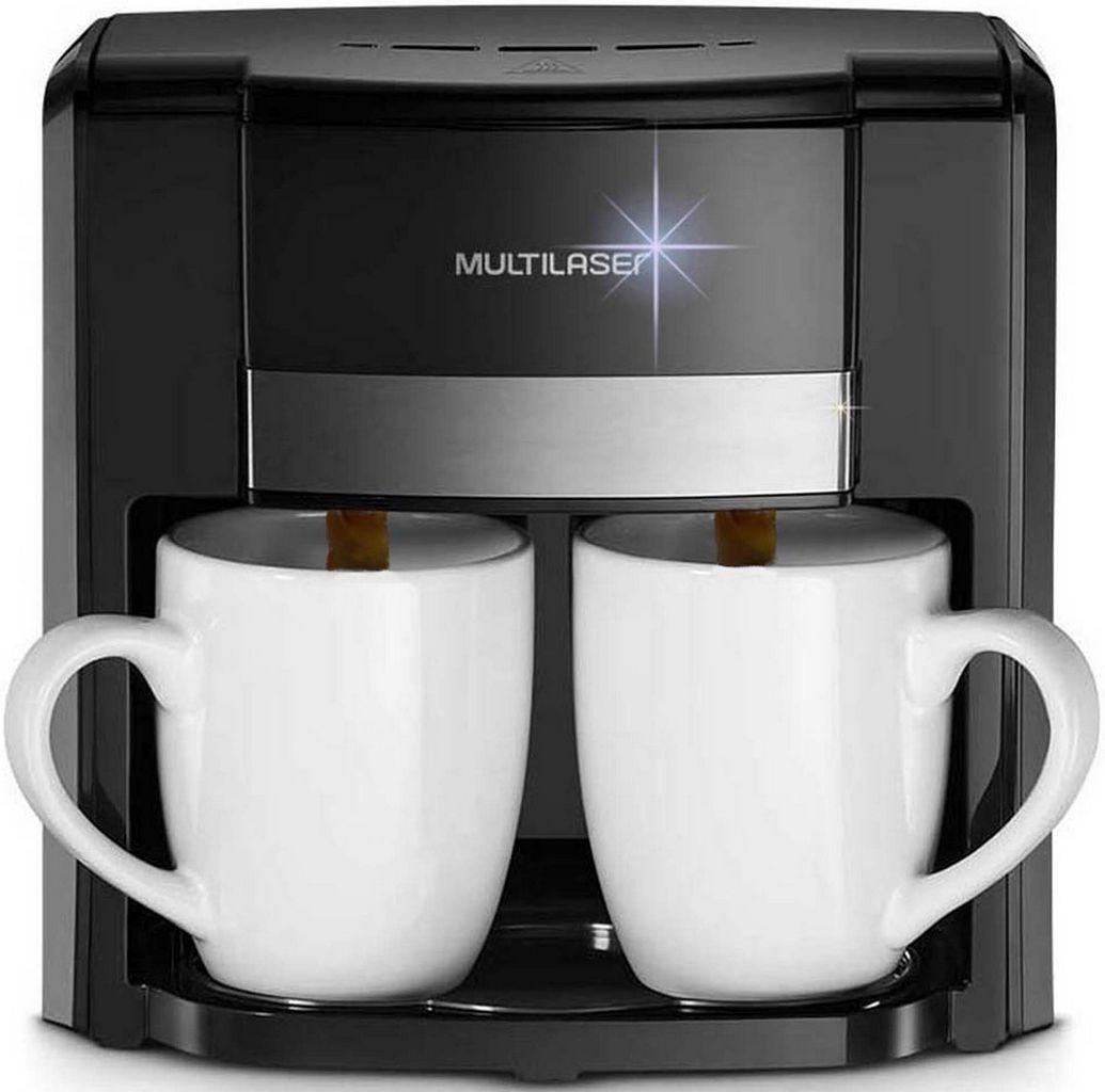 Cafeteira Elétrica 2 Xícaras Gourmet 127 Volts 500 Watts Preta BE009 Lançamento Multilaser
