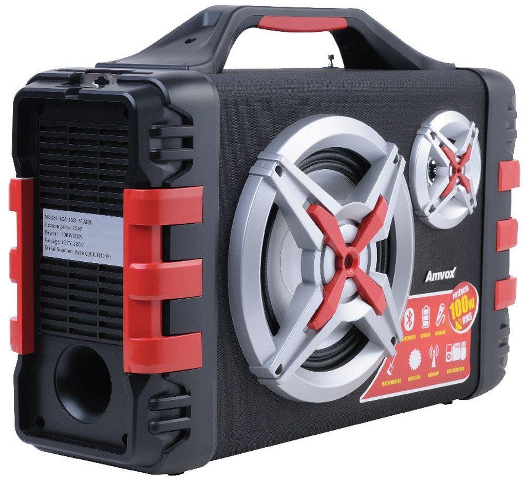 Caixa Amplificadora ACA 150 Bluetooth Usb Rádio Micro Sd Original AMVOX