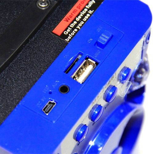 Caixa de Som MS-206BTB Bluetooth Entrada SD Iluminação LED