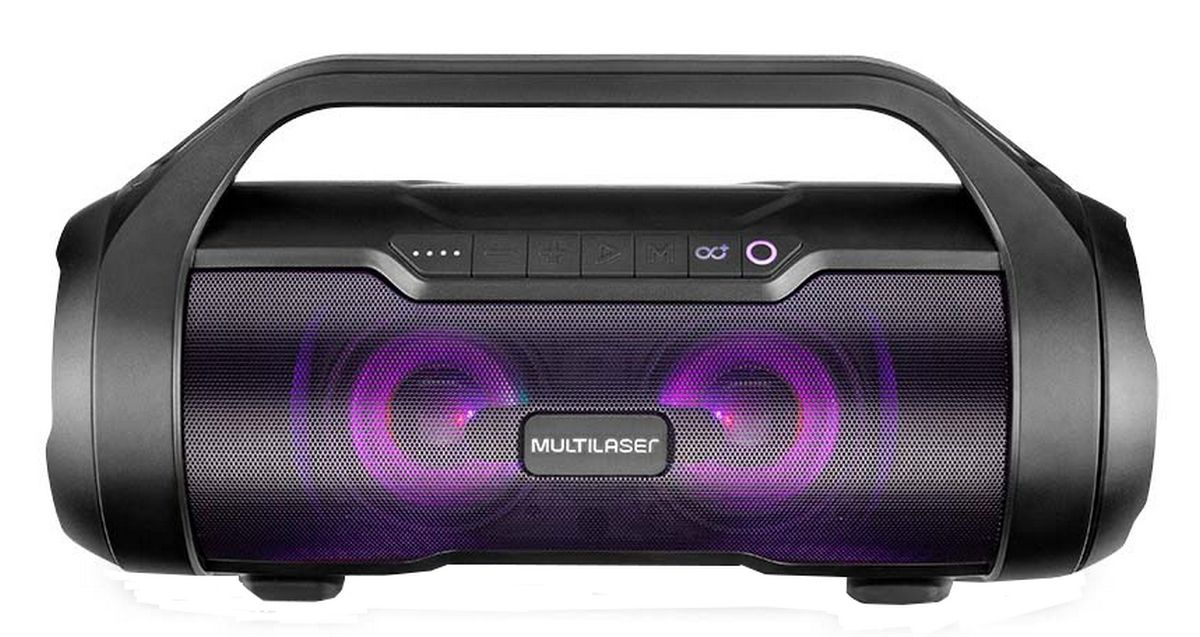 Caixa De Som Portátil Bluetooth 180 Watts RMS Usb Rádio Fm Bateria Recarregável Aux Bivolt  Original Lançamento Multilaser
