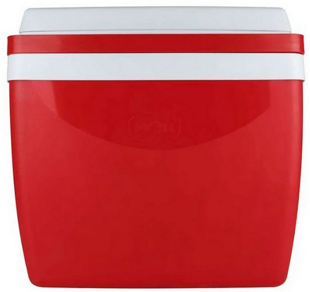Caixa Térmica 26 Litros Vermelha Cooler Praia Piscina Verão Mor