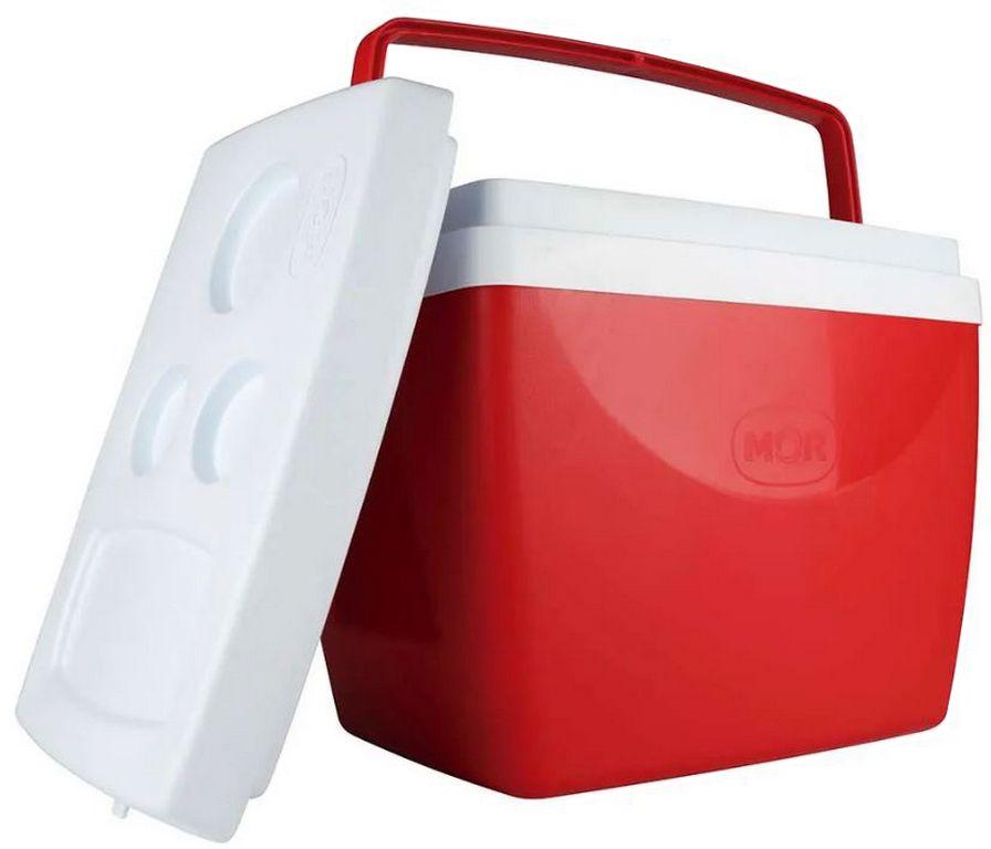 Caixa Térmica 34 Litros Vermelha Cooler Praia Piscina Verão Vermelha Mor