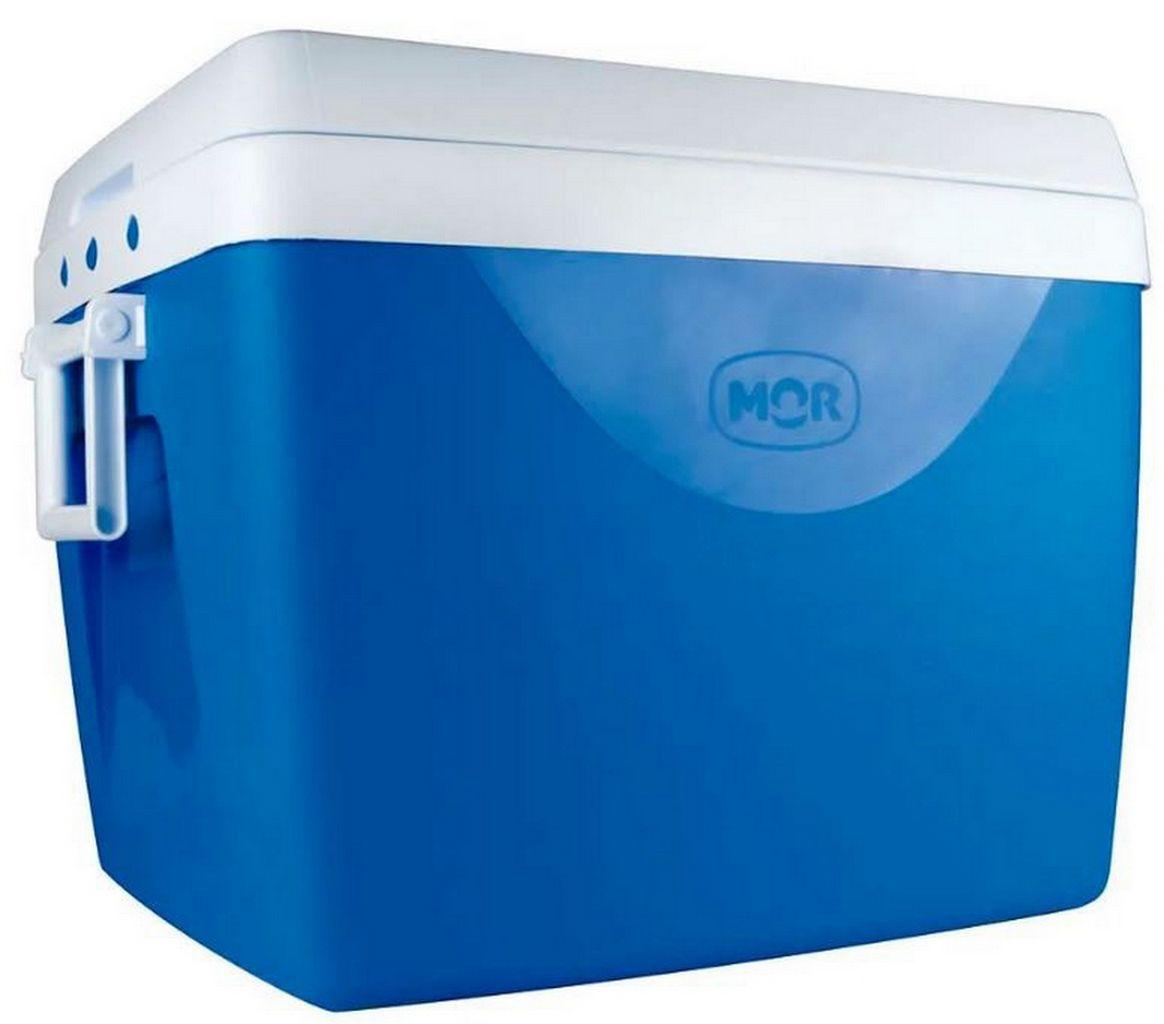 Caixa Térmica 75 Litros Azul Alça Transporte Praia Piscina Verão Camping Cooler Grande 110 Latinhas Mor
