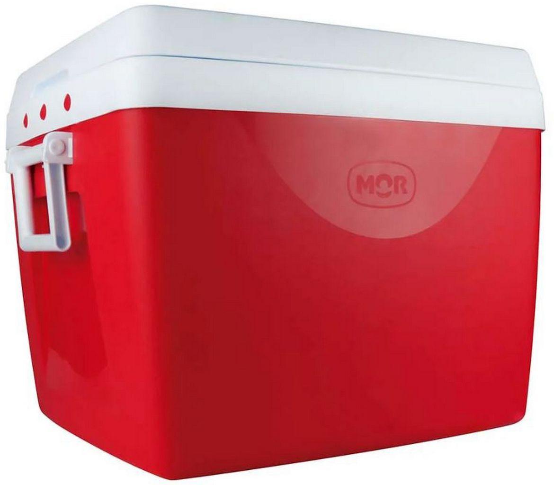 Caixa Térmica 75 Litros Vermelha Alça Transporte Praia Piscina Verão Camping Cooler Grande 110 Latinhas Mor
