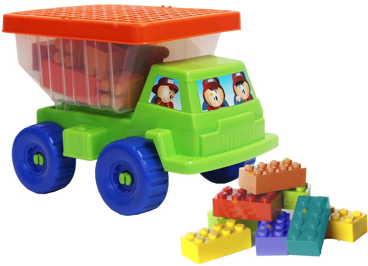 Caminhão Mini Basculhante Com Blocos Coloridos Infantil Praia Tampa Menino Menina Divertido Resistente Original Gulliver Activiy