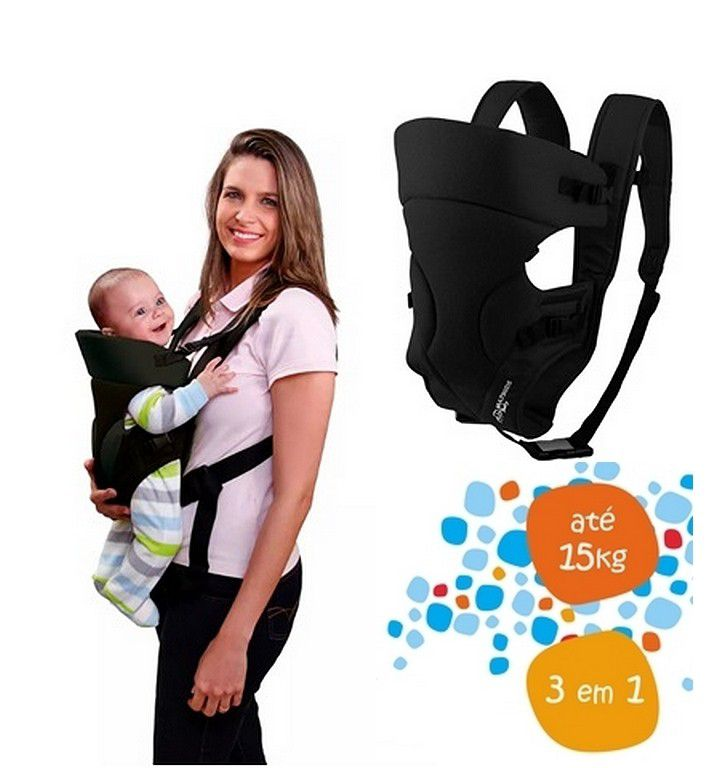 Canguru Para Bebê Safe Multikids Baby Cor Preto Multilaser - BB014