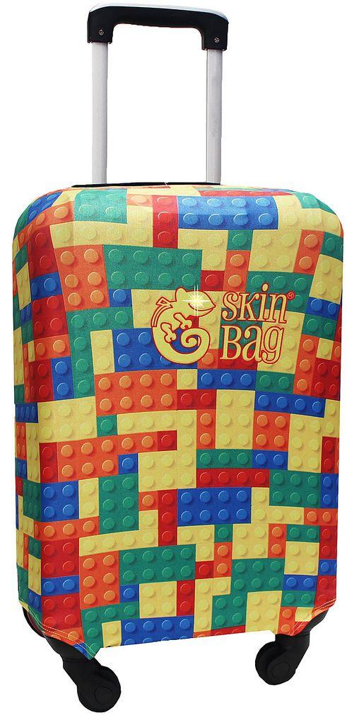 Capa Protetora Para Mala De Viagem Puzzle Resistente Blocos Moderna Feminina Tamanho Pequena Versátil Lançamento Original Skin Bag