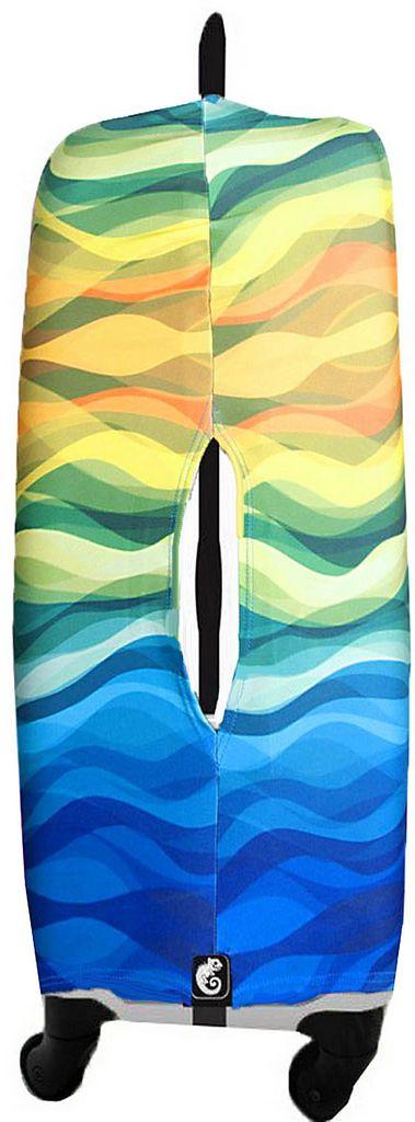 Capa Protetora Para Mala De Viagem Waves Resistente Moderna Unissex Tamanho Médio Versátil Lançamento Original Skin Bag
