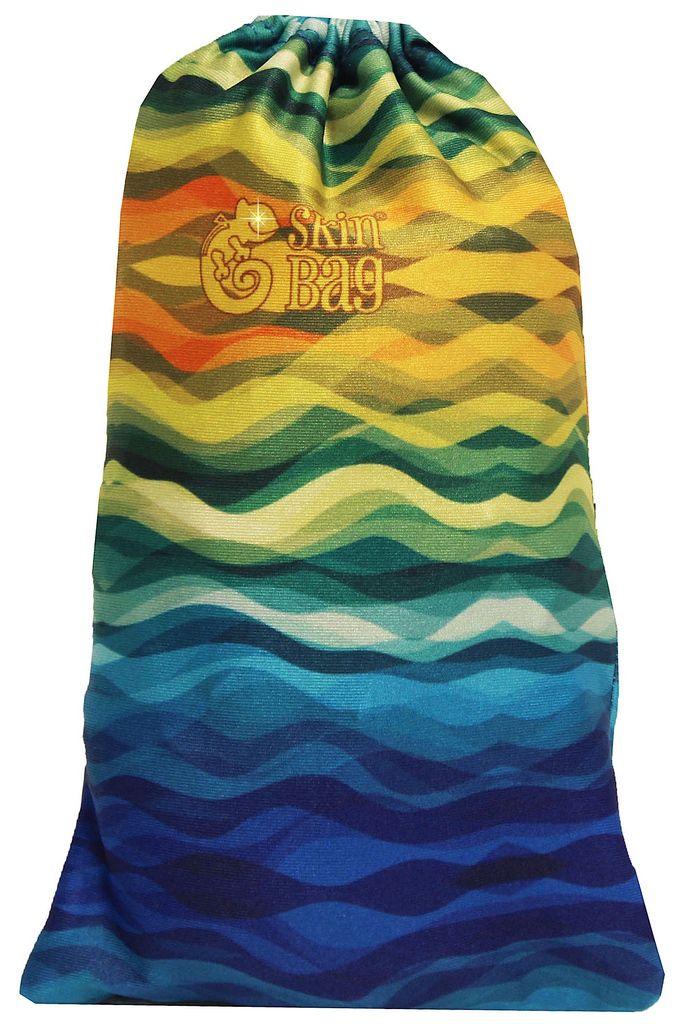 Capa Protetora Para Mala De Viagem Waves Resistente Moderna Unissex Tamanho Pequena Versátil Lançamento Original Skin Bag
