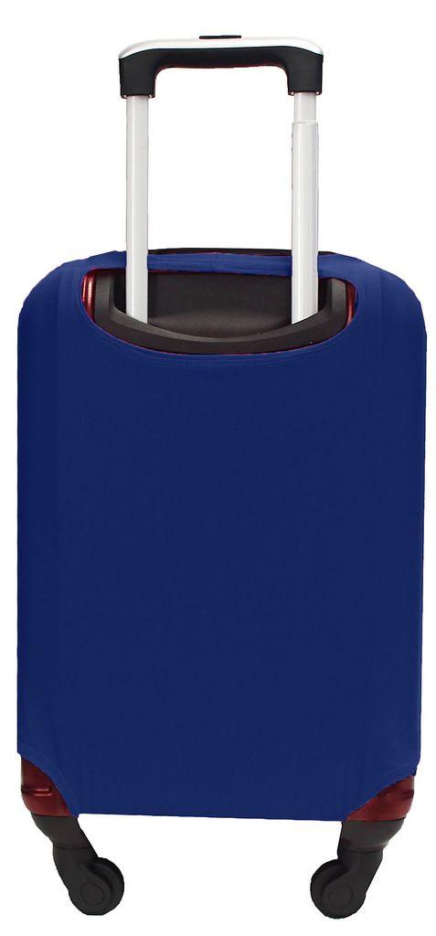 Capa Protetora Para Mala Estampa Lisa Azul Marinho Resistente Moderna Unissex Tamanho Grande Versátil Lançamento Original Skin Bag