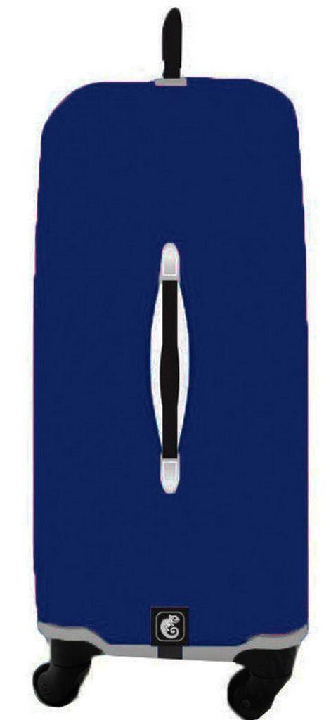 Capa Protetora Para Mala Estampa Lisa Azul Marinho Resistente Moderna Unissex Tamanho Médio Versátil Lançamento Original Skin Bag