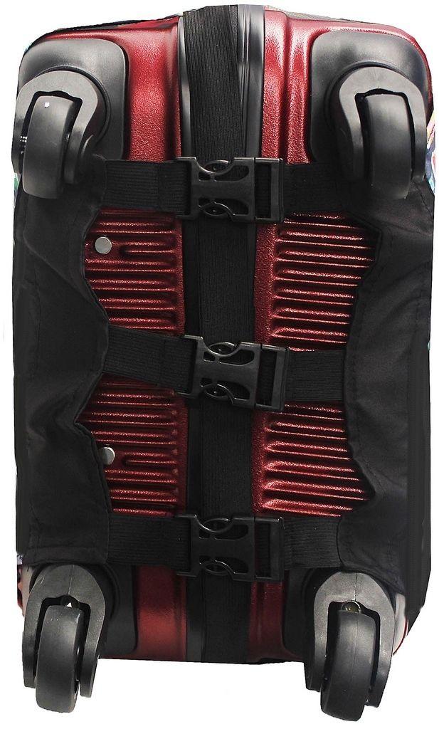 Capa Protetora Para Mala Estampa Lisa Black Preta Resistente Moderna Unissex Tamanho Grande Versátil Lançamento Original Skin Bag