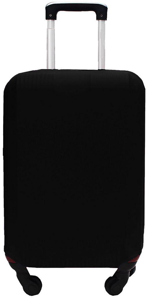 Capa Protetora Para Mala Estampa Lisa Black Preto Resistente Moderna Unissex Tamanho Médio Versátil Lançamento Original Skin Bag
