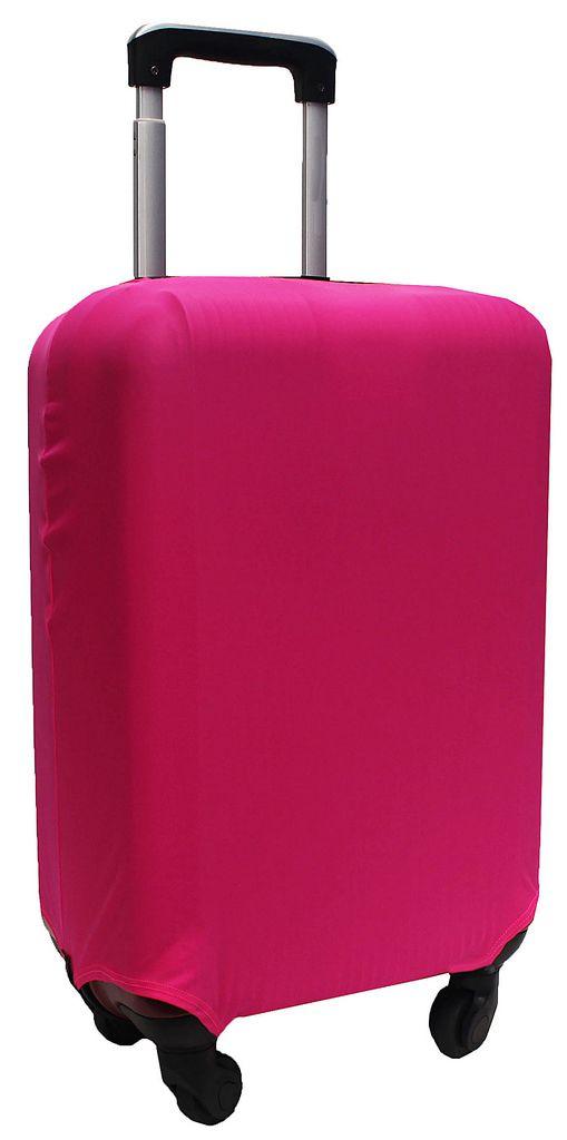 Capa Protetora Para Mala Estampa Lisa Pimenta Rosa Pink Resistente Moderna Feminina Tamanho Pequeno Versátil Lançamento Original Skin Bag