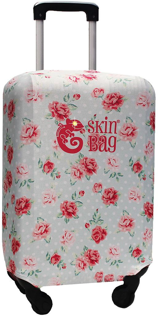 Capa Protetora Para Mala Floral Flowers Resistente Poá Moderna Feminina Tamanho Médio Versátil Lançamento Original Skin Bag