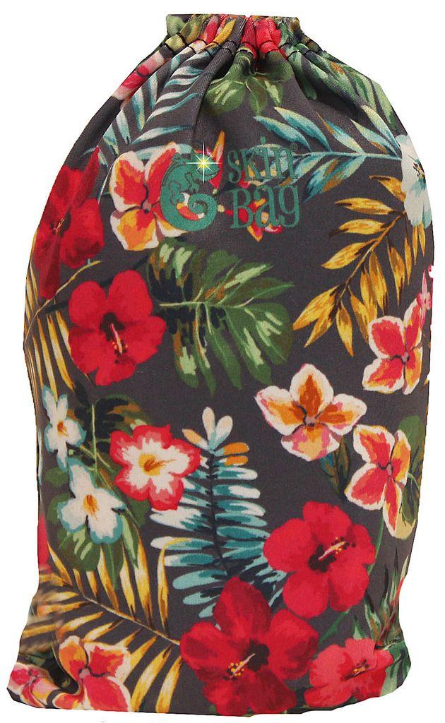 Capa Protetora Para Mala Floral Tropical Resistente Hubuscus Moderna Feminina Tamanho Médio Versátil Lançamento Original Skin Bag