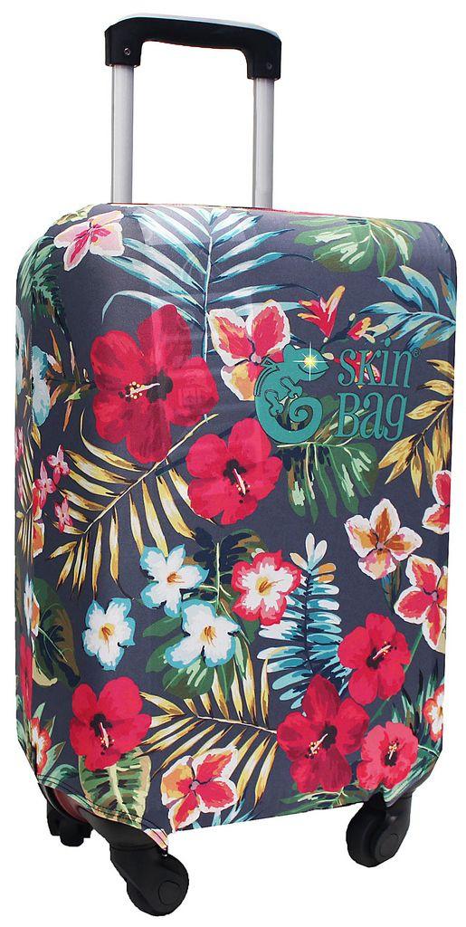 Capa Protetora Para Mala Floral Tropical Resistente Hubuscus Moderna Feminina Tamanho Pequena Versátil Lançamento Original Skin Bag