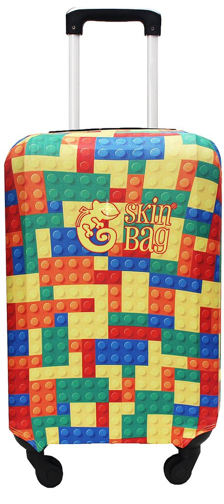 Capa Protetora Para Mala Viagem Puzzle Colorido Resistente Blocos Moderna Unissex Tamanho Grande Versátil Lançamento Original Skin Bag